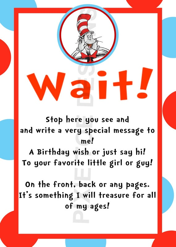 dr seuss baby shower book signing or just have cards at table in entrance