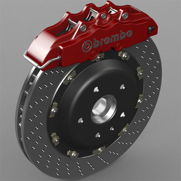 brake disk brembo by stiv3d High-poly 3D model Model is made
