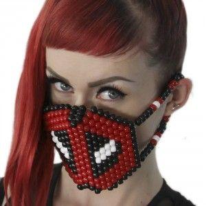 Deadpool Kandi Mask Surgical by Kandi Gear http://KandiGear.com