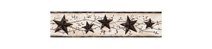 Brewster FFR65365B Ebony Heritage Tin Star Border Wallpaper Ebony Tin Star Home Decor Wallpaper Borders