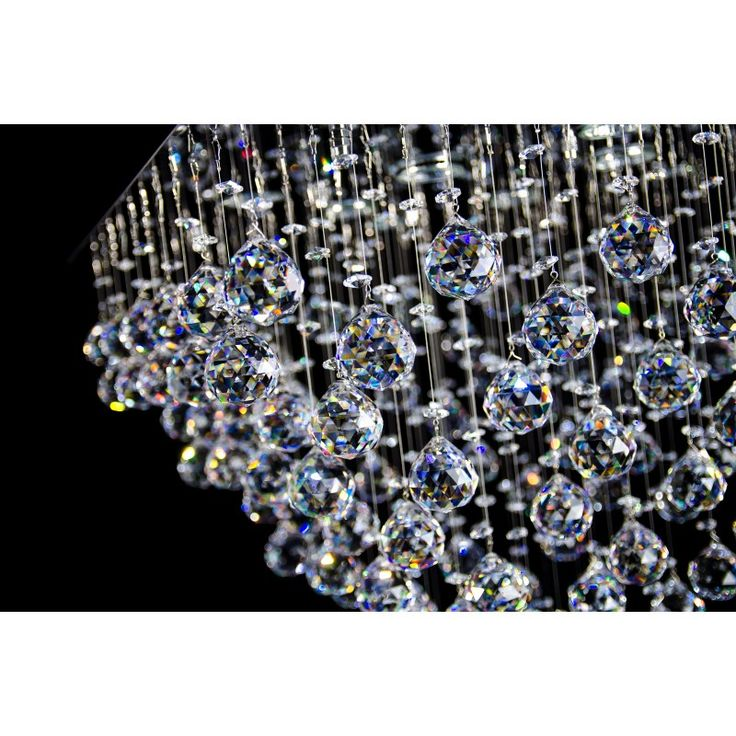 Crystal chandelier, modern cascade.