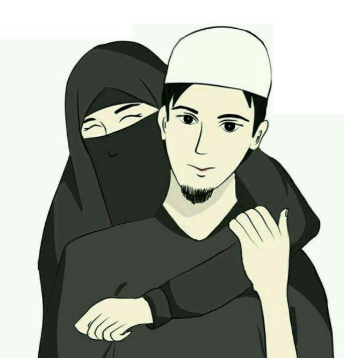 Pin On Couple Cartoon Muslim couple cartoon hd wallpaper