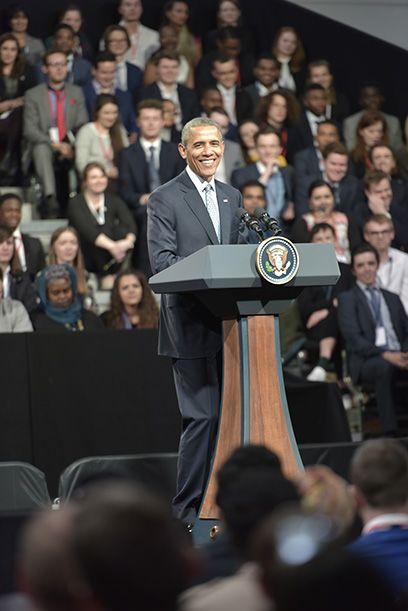 Barack Obama at RHH Lindley Hall