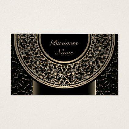 Chic Gold Medallion Business Card 3 - chic design idea diy elegant beautiful stylish modern exclusive trendy