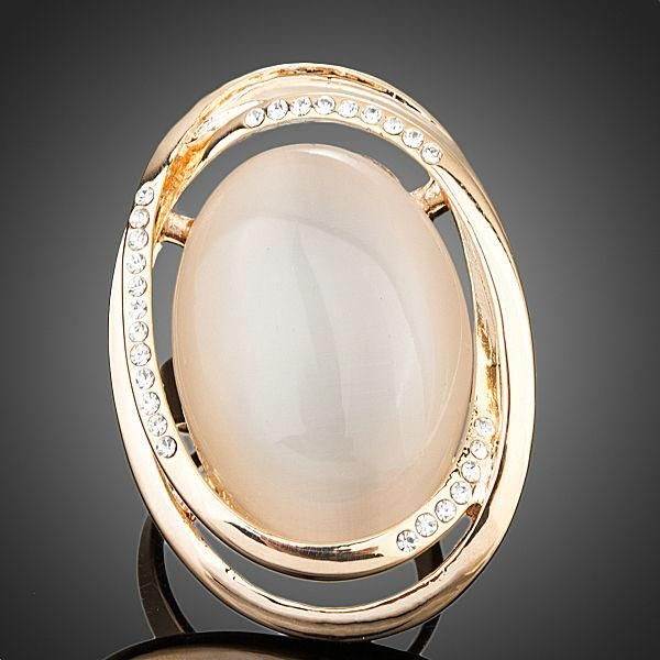 Crystal Nude Adjustable Size Ring