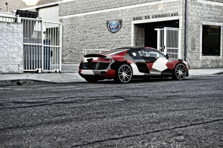 Audi R8 Car Wrap Folie Camouflage Camouflage Pinterest