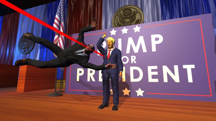 Mr. President! PC. Si el debate presidencial de anoche no fue suficiente sátira política en vivo, auto-proclamado ya está disponible en Steam.