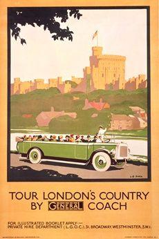 Tour London's country by General coach - L B Black (1926)