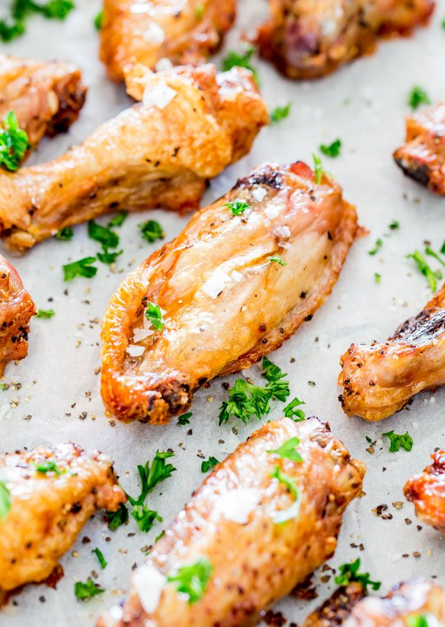 Crispy Baked Salt and Pepper Chicken Wings – these will probably be the simplest and most amazing wings you'll ever make. Generously seasoned with salt and pepper and baked to a crisp perfection!