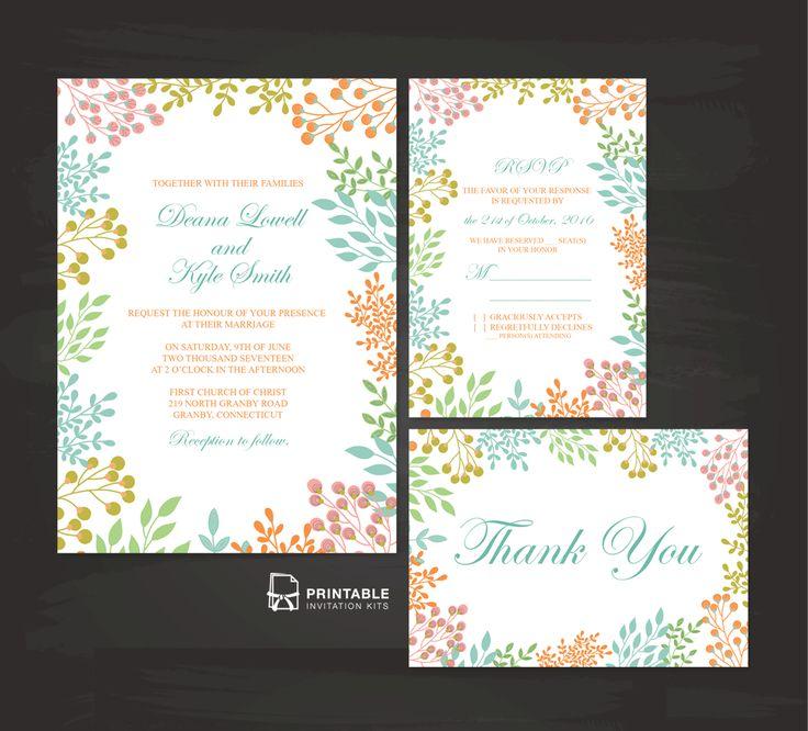 206 best Wedding Invitation Templates free images on Pinterest