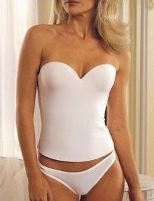 This strapless wedding corset, also known as a seamless bridal ...