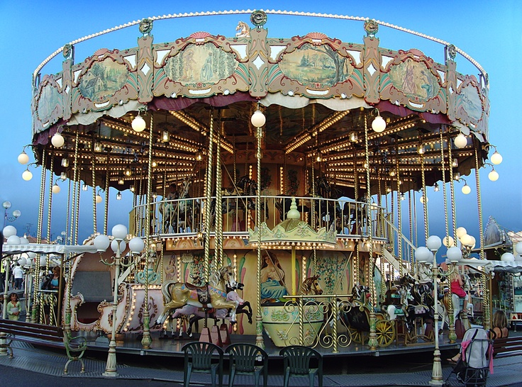 """Carousel """"La Belle Epoque"""" in Saint-Gilles-Croix-de-Vie, France"""