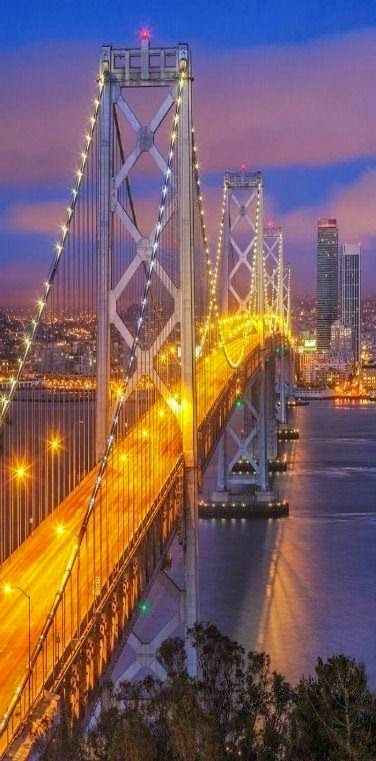 Bay Bridge, San Francisco–Oakland, California. http://traveloxford.blogspot.com/2014/09/bay-bridge-san-franciscooakland.html