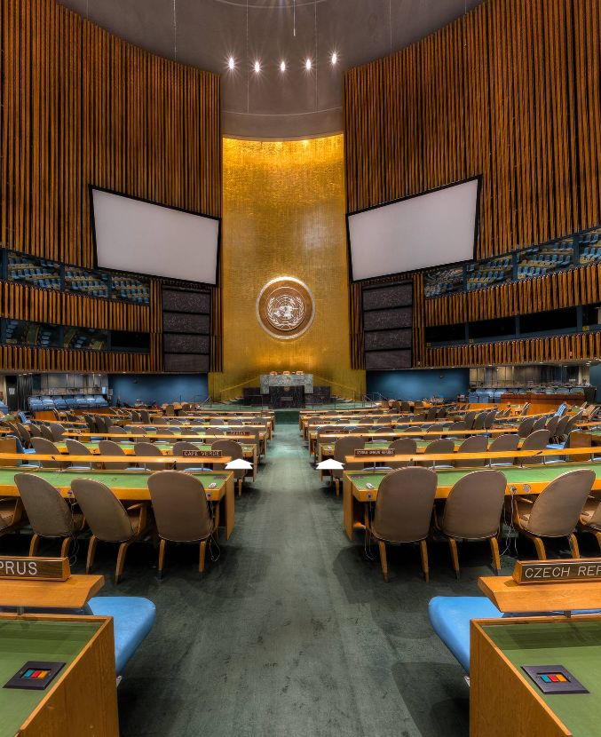 United Nations General Assembly Hall, New York City (USA) by Sam Rohn https://www.360cities.net/image/united-nations-general-assembly-hall-new-york-city#-361.11,2.64,109.0