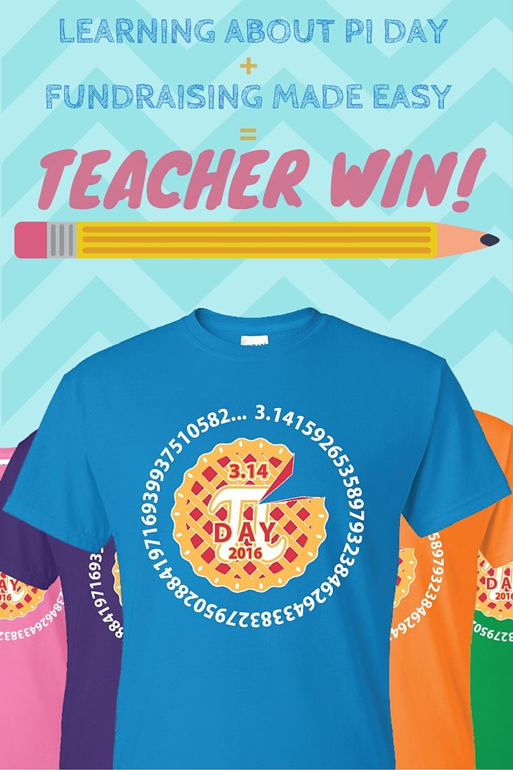 Love this awesome Pi Day Tee? We have a fantastic new design for 2017! Check it out now & share with your favorite teacher: https://2tts.com/pages/pidayfundraiser #PiDay #Pi #Math #TShirt #Pie #Education #Fundraiser #Idea #Fundraising #Ideas #School #Class #Classroom #PiDay2017 #PiDay2016