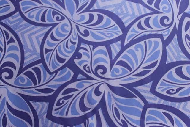 Hawaiian Print Retro Print Fabric  (Yardage Available). $4.45, via Etsy.