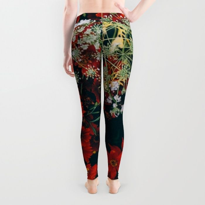 Floral Leggings by Mixed Imagery | Society6