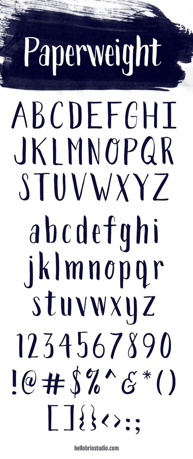 Paperweight Font by @jnnfrcyl at Hello Brio Studio - FREE or purchase for a commercial license