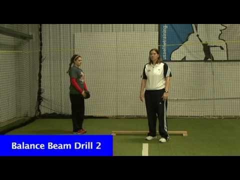 Fastpitch Softball - pitching drill - Balance Beam Drill