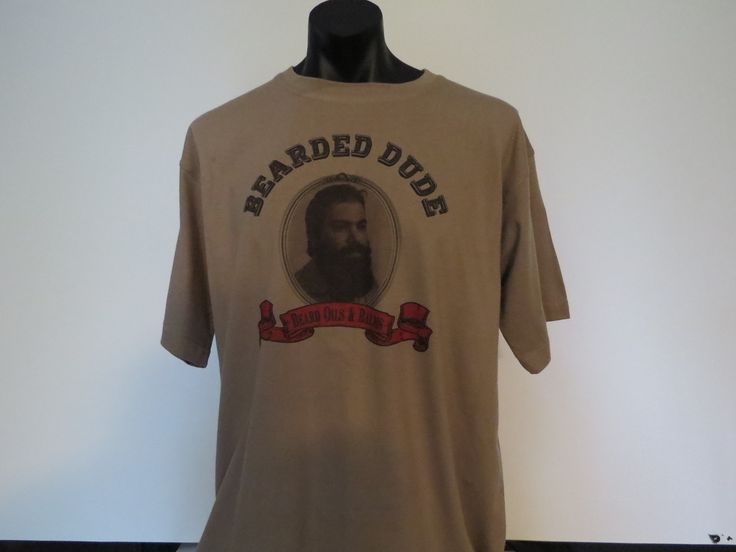T shirt available in all sizes. BeardedDude.com