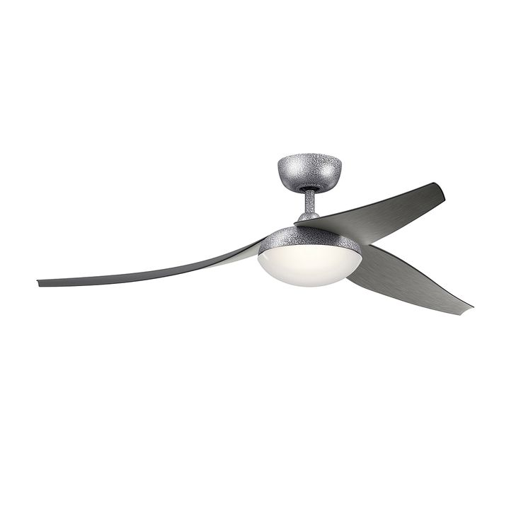 60``Ceiling Fan 60 Inch Flyy Fan In Wsp,In.This Weathered Steel Powder Coat 60 Inch Ceiling Fan From The Flyy Collection Has A Blade Shape And Form Modeled After The Wings Of A Bird, Curving Down To Silently Move Air With Precision.