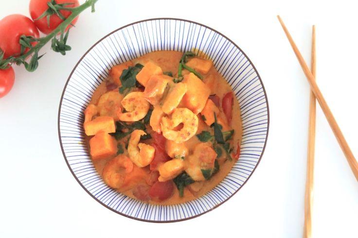Curry met garnalen – SKINNY SIX