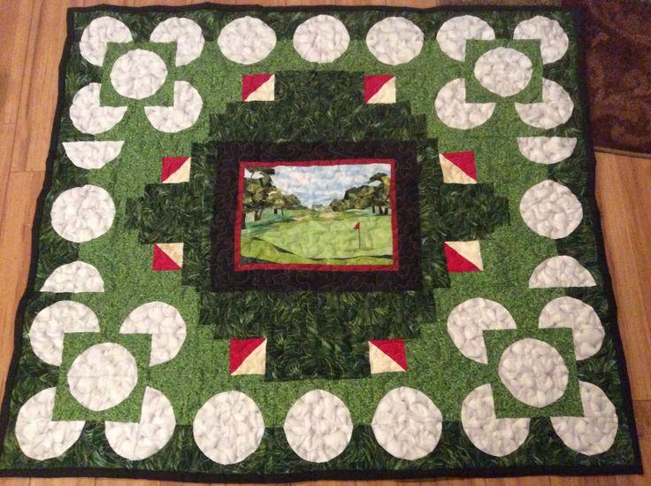 Golf Quilt Quilts Pinterest Golf Golf Quilt And Quilt