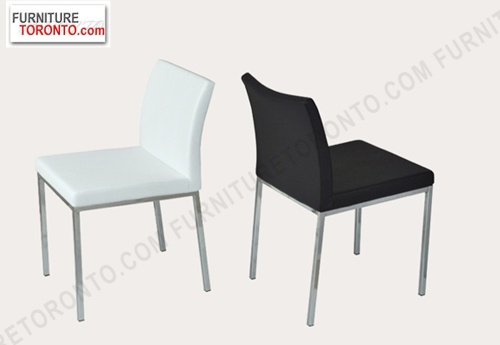 Low Back Contermporary Dining Room #Chair | Chrome Base and Leatherette Seat cover with Injection-molded polyurethane foam.   It is the ideal seating solution for interiors where seating elements are meant not to dominate and rather create a background for other design details within the space. The elegant and comfortable design is also suitable for commercial applications. Also available in black powder finish.  $234.95