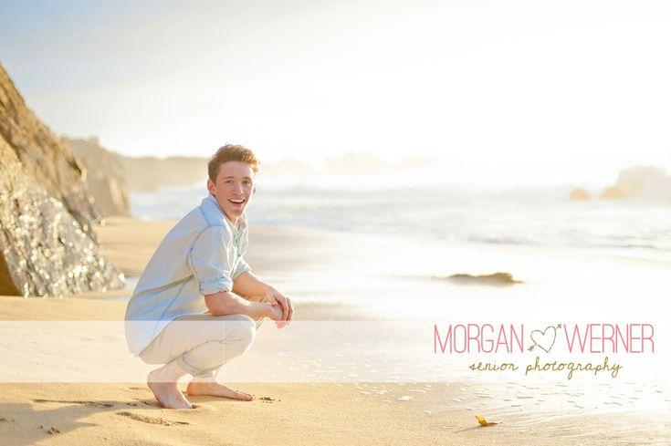 Senior guy on the beach | Morgan Werner Photography