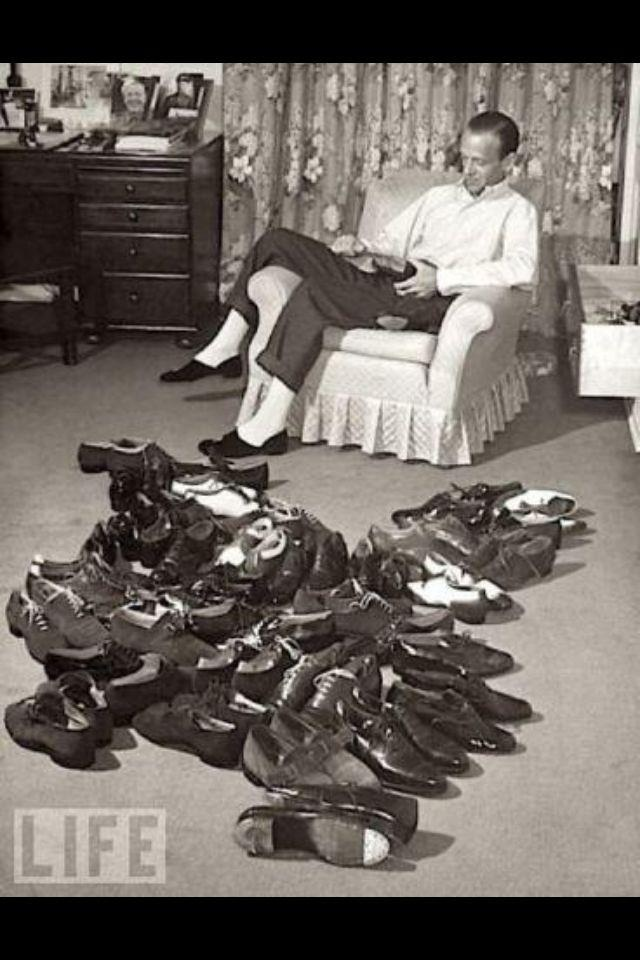 Fred Astaire and his tap shoes.