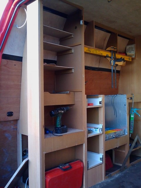 van conversion storage cupbpard ideas