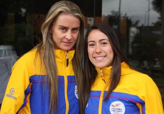 Mariana Pajon y maria Luisa calle