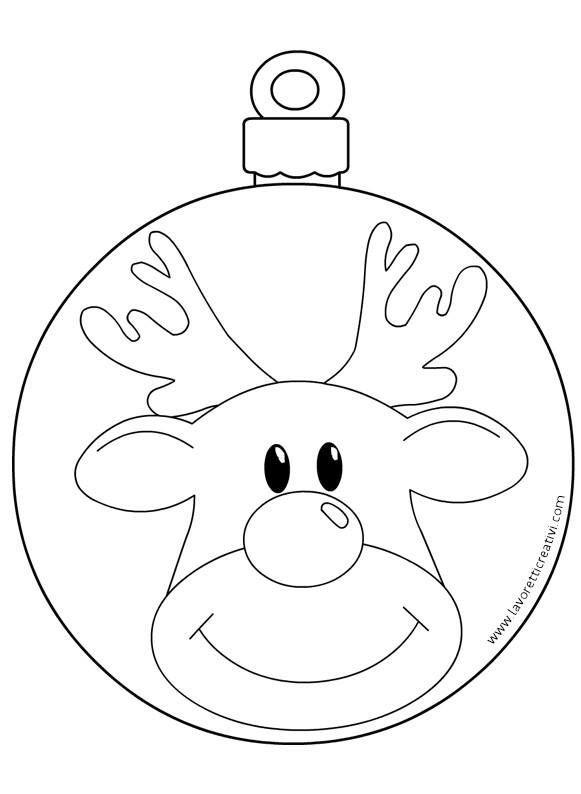 Resultado De Imagen Para Bolas De Navidad Con Cara De Reno Para Colorear Adornos Navidenos En Foami Dibujos Renos Navidad Moldes De Adornos Navidenos