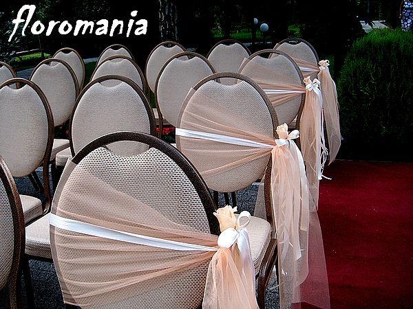 Ślubna dekoracja - krzesła