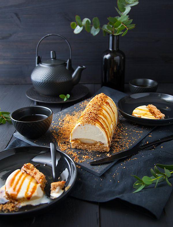 Vanilla-Hazelnut frozen dessert Log -- (translated using google so sentence structure may be a bit off)