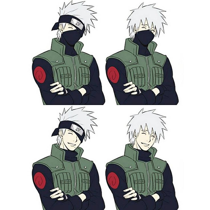 """⠀ Kakashi with and without the mask HOLY  ⠀ Credits to the artist! ⠀ {#naruto #kakashi #kakashihatake}"""