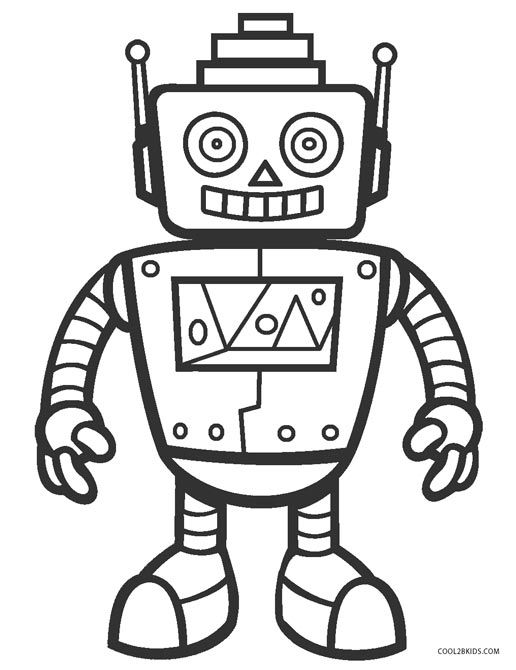 Free Printable Robot Coloring Pages For Kids Cool2bkids Rhpinterest: Colouring In Pages Printable Robot At Baymontmadison.com