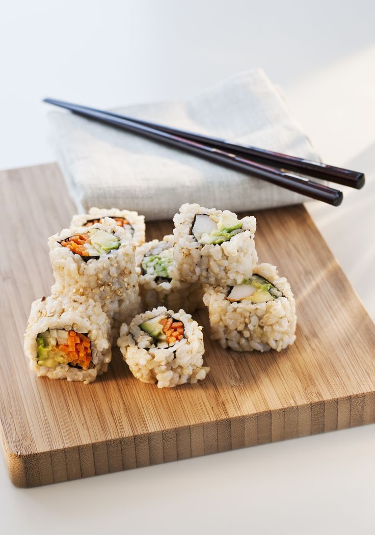 """""""Fatty fish contain high levels of omega-3 fatty acids, which are known to benefit the heart and help protect it from stress-induced diseases,"""" says Moss. Not to mention the fatty acid found in fish like wild salmon, mackerel, or sardines can help regulate moods and promote brain health, she says. Opting for brown rice over white adds a complex carb to your meal, meaning your serotonin levels—the hormone responsible for keeping you calm—will get a hefty boost.      - ELLE.com"""