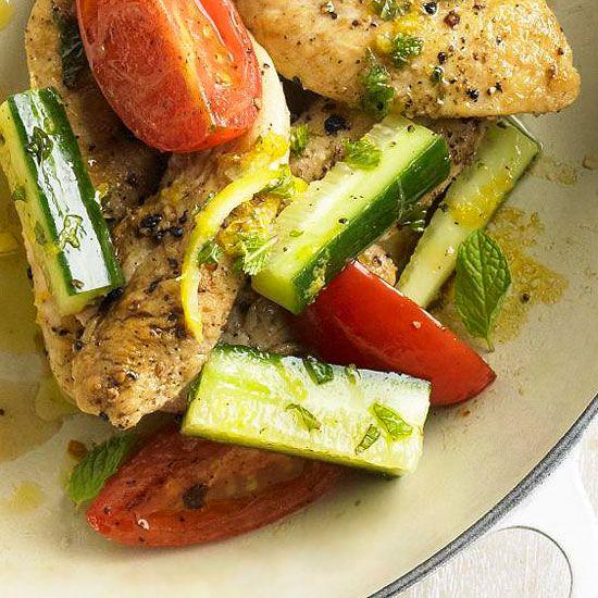 Zesty Greek Chicken with Mint