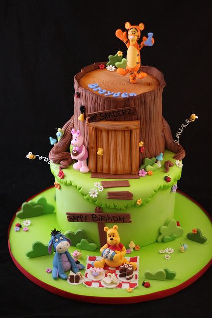Winnie the Pooh and friends cake by Andrea's SweetCakes, via Flickr