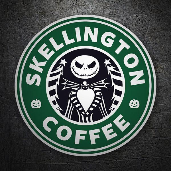 Pegatinas: Skellington Coffee #starbucks #TeleAdhesivo #pesadilla