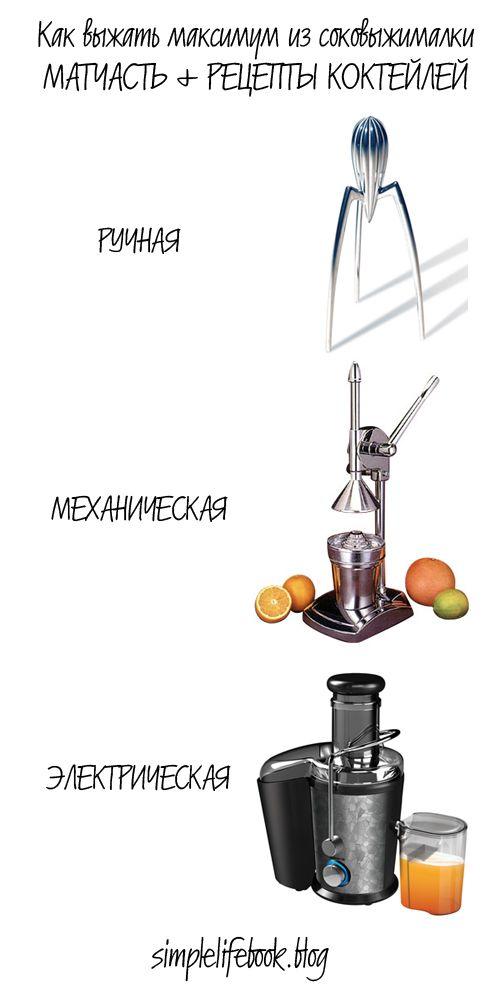 Как выжать максимум из соковыжималки + Рецепт (ПП): Три шикарных коктейля из свежевыжатых соков