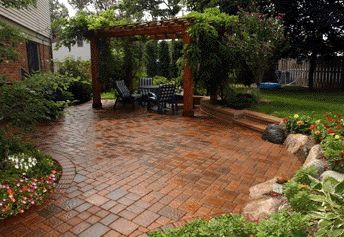 Brick Paver Patio: Multi Dimensional Pavers | Patios | Pinterest ...