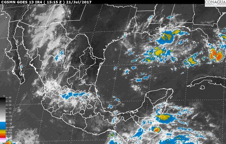 Hoy se prevén tormentas intensas en zonas deChihuahua, Sinaloa y Nayarit; tormentas muy fuertes en regiones de Sonora, Durango, Jalisco, Michoacán, Chiapas, Campeche y Yucatán, y tormentas locales fuertes enColima, ...