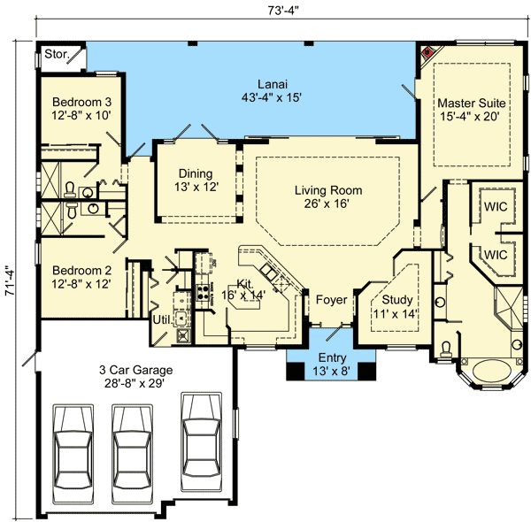 Plan 64304bt open concept mediterranean house plan for Florida mediterranean house plans