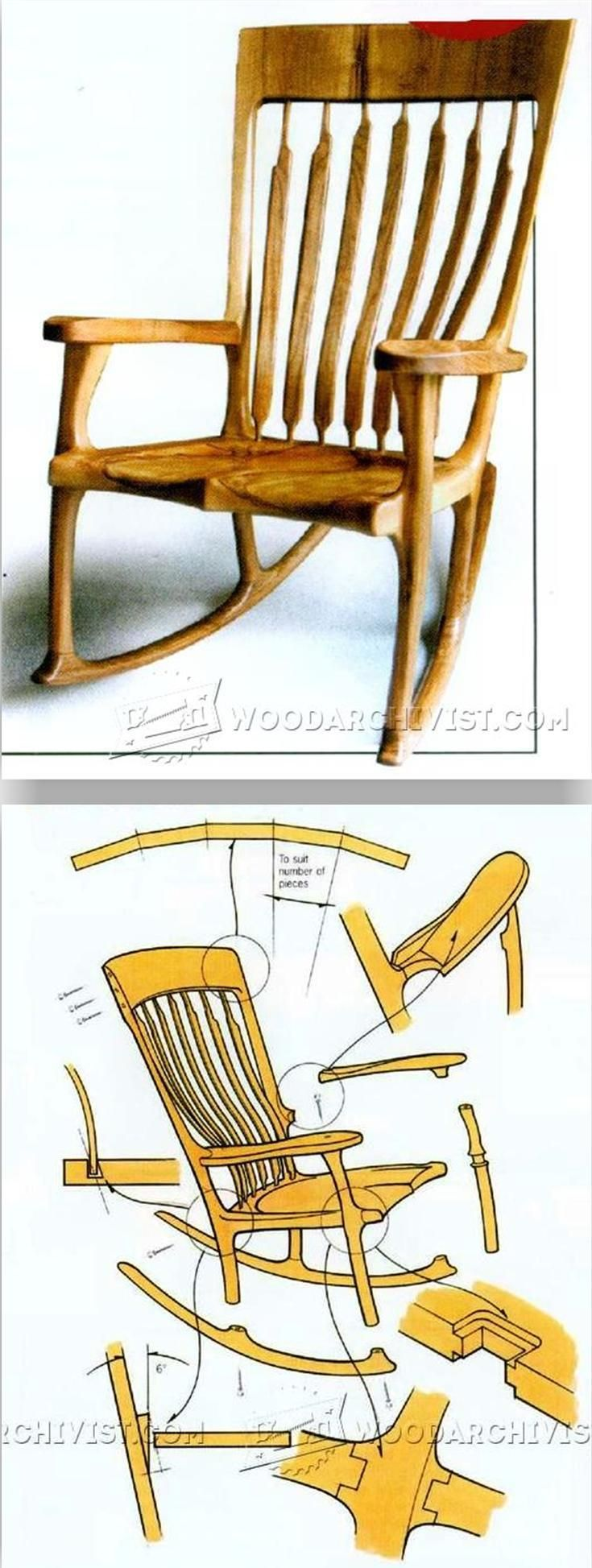 Classic Rocking Chair Plans - Furniture Plans and Projects | WoodArchivist.com
