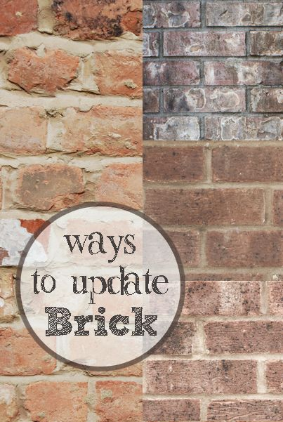 If you have brick around a fireplace or one of your walls is brick and you are looking for a way to update the look. Here are a few different styles... View the slideshow below to read more: