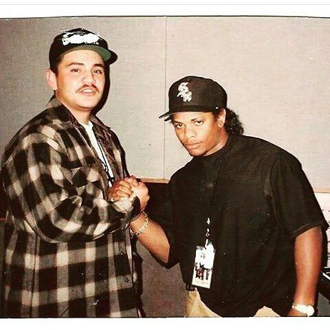 Rare Pic of Eazy-E. Show love to ALL races..Whats that being racist shit?Hating someone because of a skin colour or the religion.. #fuckthepolice#ericwright#90s#hiphop#rap#rapper#mc#nwa#group#king#rip#beast#eazye#cpt#compton#godfather#old_school_blood#godfatherofrap#g#realest#itson#187#rare#religion#mexican#race#weareallthesame by _old_school_blood