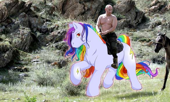 Image result for Shirtless putin unicorn
