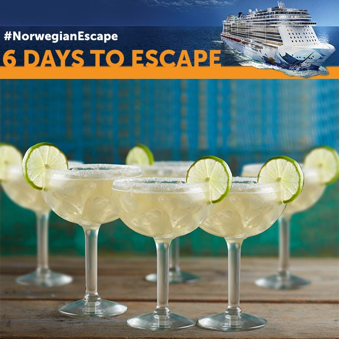 On the rocks? Frozen? Sip one or six however you like at the first-ever Jimmy Buffett's Margaritaville at Sea on board #NorwegianEscape - only 6 days till her arrival!
